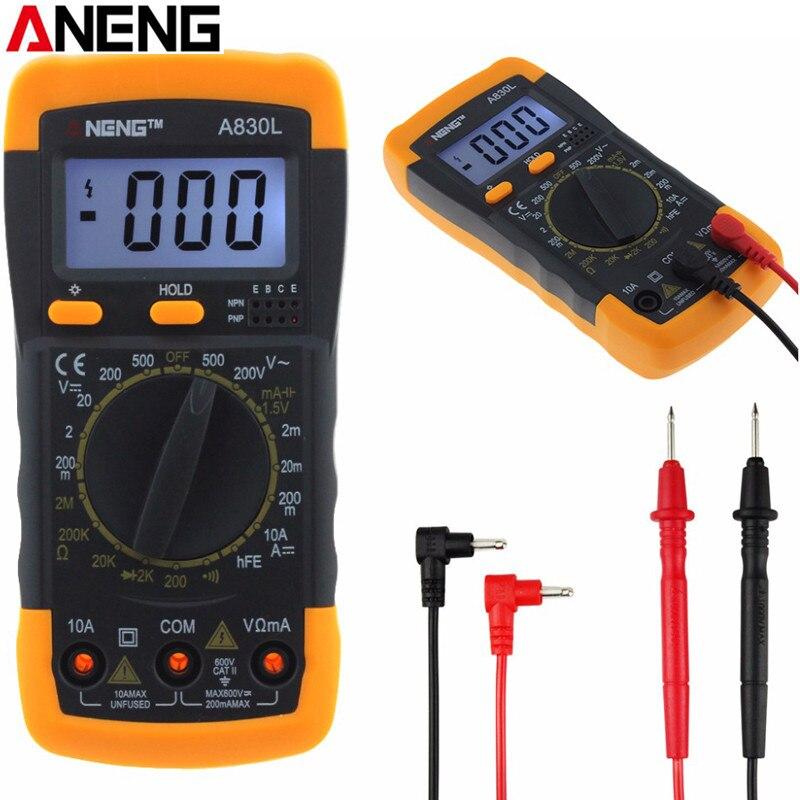 ANENG A830L Digital Multimeter DC AC Ammeter Voltmeter Tester Meter LCD Electric Handheld Digital Multimetro Ammeter Multitester