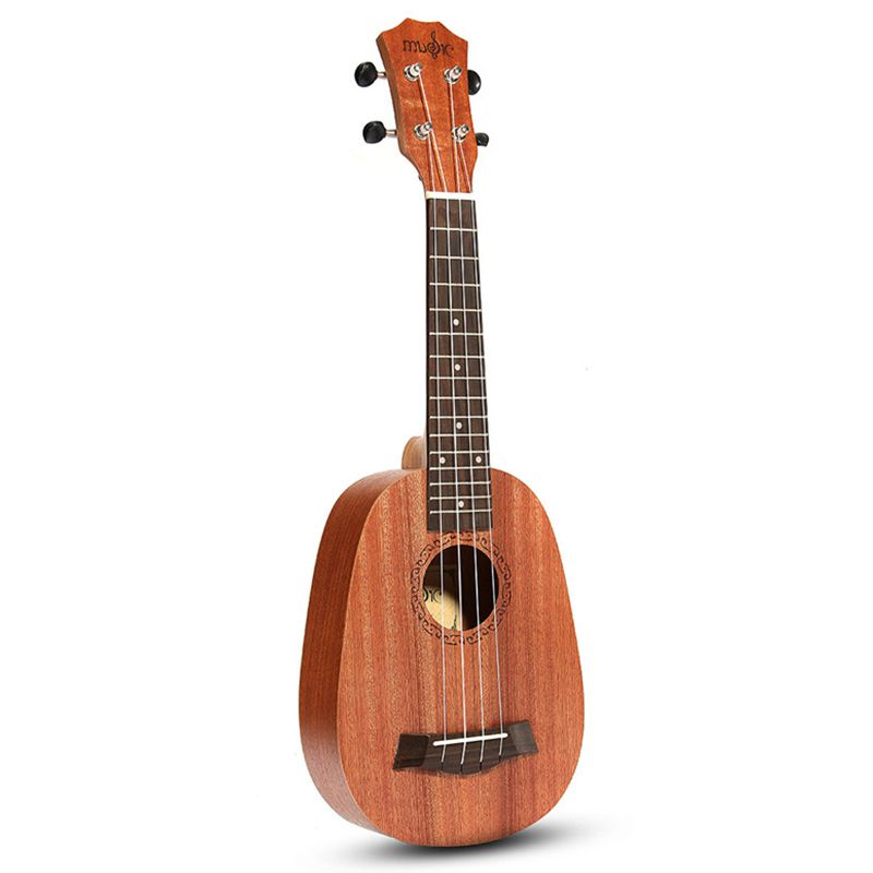 21inch 4 Strings Pineapple Style Mahogany Hawaii Ukulele Uke Electric Bass Guitar For Guitarra Musical Instruments Music Lovers