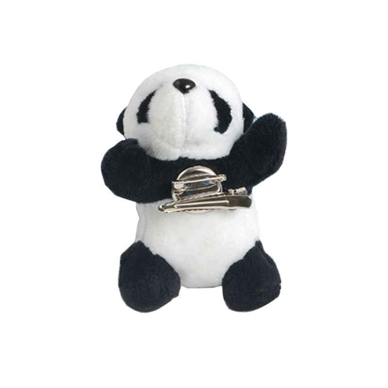 Peludo bonito Panda Broche Pin Animal Urso Hairpin Dag Sapatos Roupas Decoração Jóias