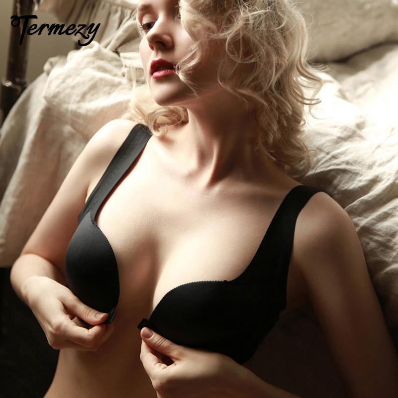 TERMEZY New Fashion Sexy Bras For Women Push Up Lingerie Seamless Bralette Wire Free Temptation Brassiere Underwear Intimates