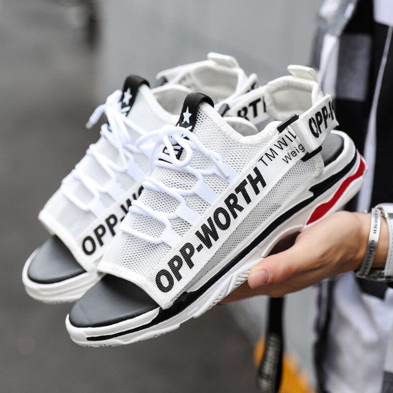 2019 New Style White Shoes COUPLE'S Shoes Summer Slippers Sandals Double Purpose Sandals MEN'S SHOES WOMEN'S Shoes