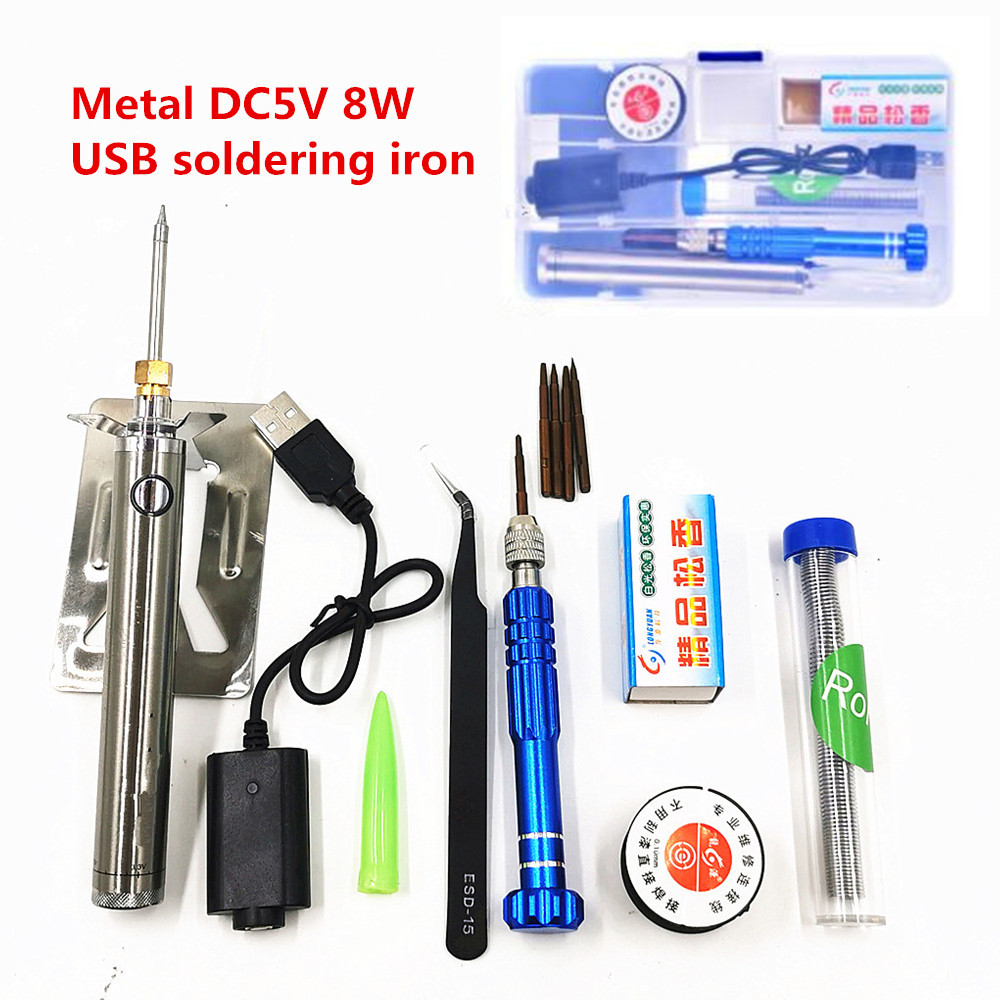 5V 8W USB Soldering Iron Wireless Charging Soldering Iron Mini Portable Battery Soldering Iron With USB Welding Tools