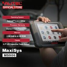 Autel maxisys ms906 obd2 scanner automotivo ferramenta de diagnóstico ms 906 chave programação código leitor oem ferramentas chave codificação pk ds808
