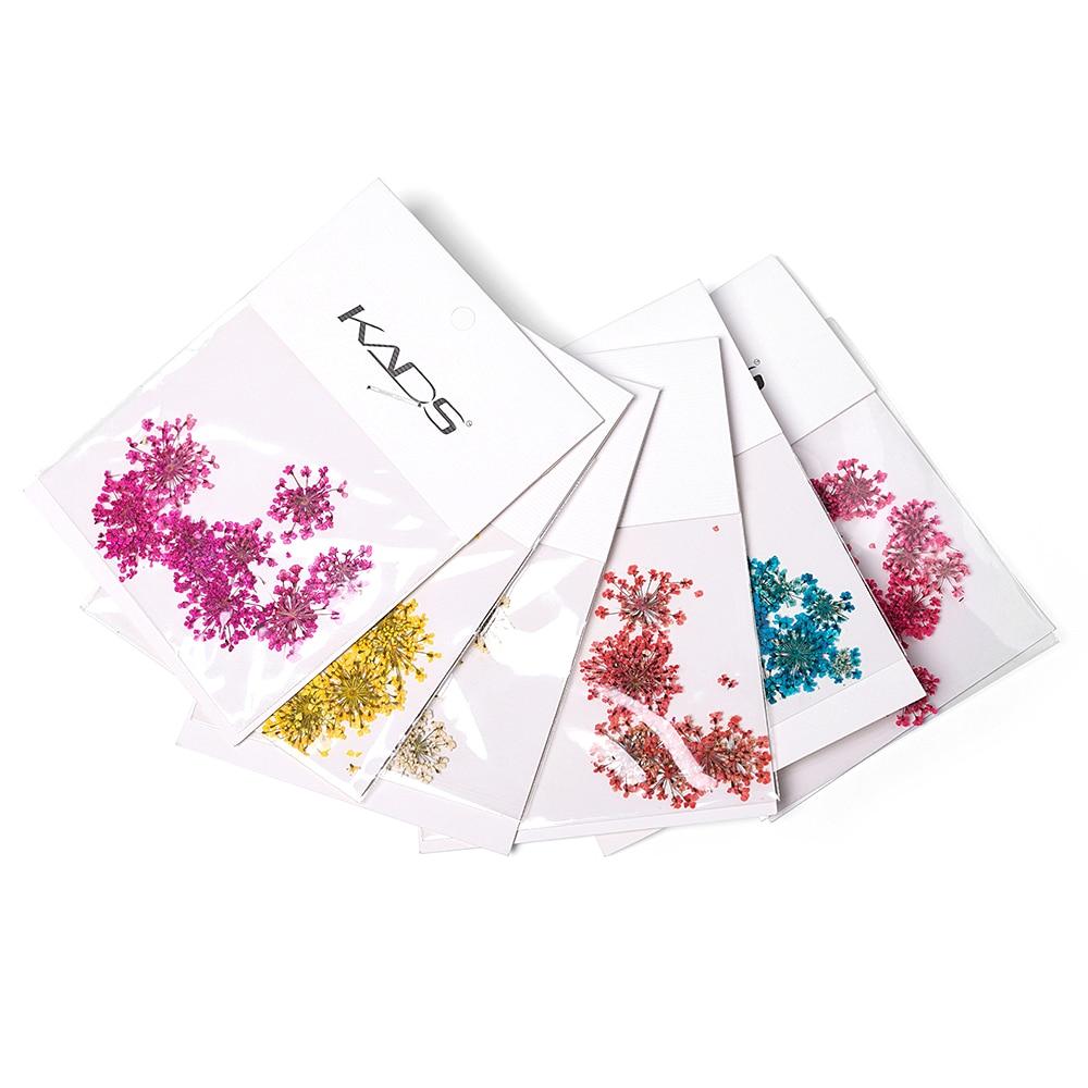 Декоративные наклейки для ногтей, сушеные цветы