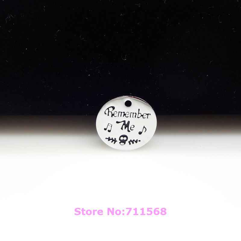 Remember Me Plate Pendant Nightmare Before Christmas Dangle Necklace Pendants Bracelet Charms For DIY Fashion Jewelry