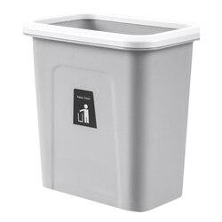 Wisząca szafka kosz na śmieci do kuchni-kosz na śmieci Push-Top do nowoczesnej kuchni-do zastosowań komercyjnych i mieszkalnych-szary  10.6X6.7 X