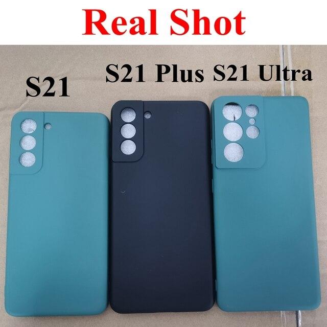 Liquid Silicone Case for Samsung Galaxy S20 Ultra Plus fan edition Camera S21 S 21 Cover Coque fundas  Sansung S20 fe Ultra Capa 5
