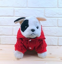 NACOCO Dag Christmas Lapel Sweater with Buttons for Dog Pet Spring Festival Turtleneck Cat Ugly Winter Knitted