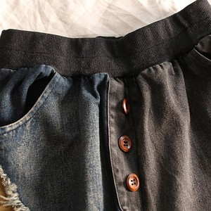 Женские повседневные джинсы, новинка 2020, осенняя уличная одежда, винтажные универсальные шаровары в стиле пэчворк, женские свободные джинсовые брюки с высокой талией, P1372|Джинсы МОМ|   | АлиЭкспресс