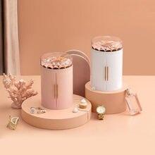 Boîte de rangement de bijoux à cinq couches, grande capacité, coiffeuse multifonctionnelle, boîte à bijoux transparente en forme de pétale