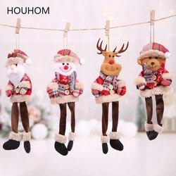 New Year 2020 Cute Santa Claus/Snowman/Angel Christmas Dolls Noel Christmas Tree Decoration for Home Xmas Navidad 2019 Kids Gift 1