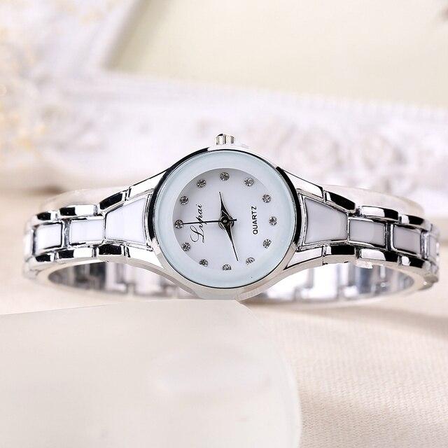 Women Watches Luxury Rose Gold Silver Bracelet Wristwatch Ladies Alloy Simple Casual Quartz 3
