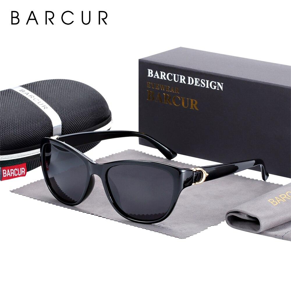 BARCUR качественные женские солнцезащитные очки TR90, поляризационные солнцезащитные очки «кошачий глаз», градиентные UV400 lunette de soleil femme
