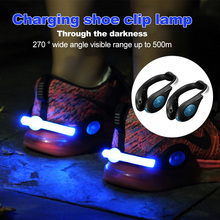 Clip-Light Cycling Night-Safety Outdoor Rechargeable USB Waterproof IPX5 2pcs Led-Shoes