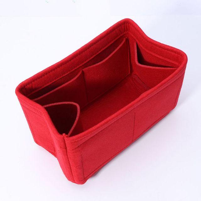 New Multifunction Women Felt Insert Bag Makeup Cosmetic Bags Travel Inner Purse Portable Handbag Storage Organizer Tote S/M/L 3