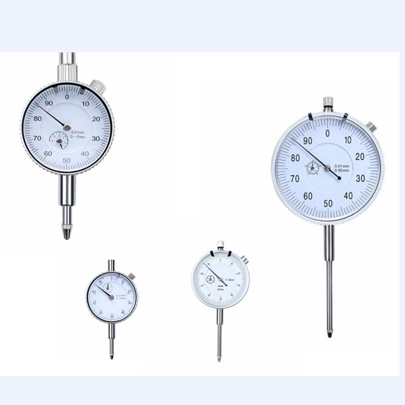 0.01mm Mechanical Dial Indicator Gauge Shockproof dial gauge Indicator Analog Micrometer Measure Instrument Tools 0-5-10-30-50mm