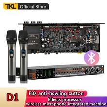 TKL Bluetooth Professional audio effect processor D1 fiber wireless microphone sound processors system