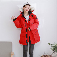 casacas para mujer chaqueta canada Men's down jacket thick women shelter winter real fur 40℃ waterproof outdoor Male Female new