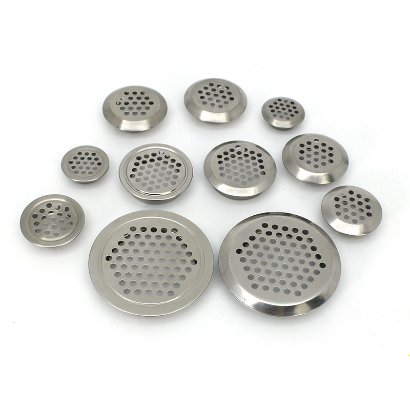 10Pcs Round Wardrobe Cabinet Mesh Hole Stainless Steel Air Vent Louver Ventilation Cover Hole Dia.19mm/25mm/29mm/35mm/53mm