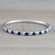 Pure Silver Sapphire Ring CZ Zircon Engagement Wedding Jewelry Ring for Women and Men Anillos Bizuteria Gemstone Ring Box(China)
