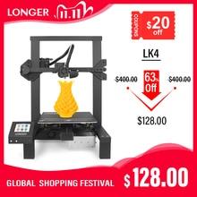 LONGER LK4 3D Printer Touch Screen 3D Print with Unique Frame Design Resume Printing Safe Power Supply 3D Printer Kit