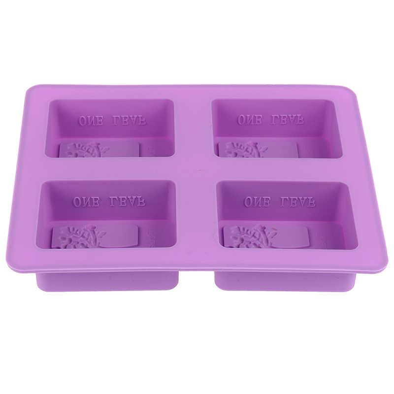 1 * Stampo in Silicone Per Fare Saponi 3D Pianura Muffa Del Sapone FAI DA TE Forma Sapone Fatto A Mano Muffa Del Vassoio Della Muffa