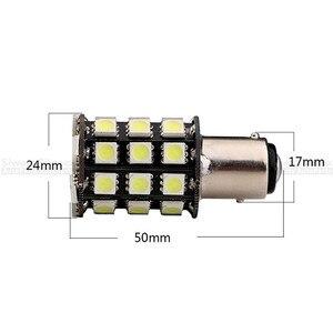 Image 3 - 2 Pcs 1156 BA15S 1157 BAY15D P21W 36 SMD 5050 LED Brake Side Turn Signal Lights Rear Backup Reverse White Bulbs DC 12V