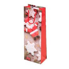 12pcs Christmas Paper Wine Bottle Gift Bags Reusable Present Packaging Pouch New
