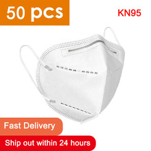 50pcs N95 Mask CE Certification Mouth Face Mask Dust Anti Infection KN95 Masks PM2.5 Anti-fog Protective Respirator Reusable