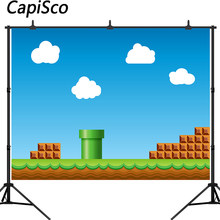 Capisco Birthday Game Photography Background Baby Shower Party Supplies Cake Table Decoration Poster Banner Photo Booth Props(China)