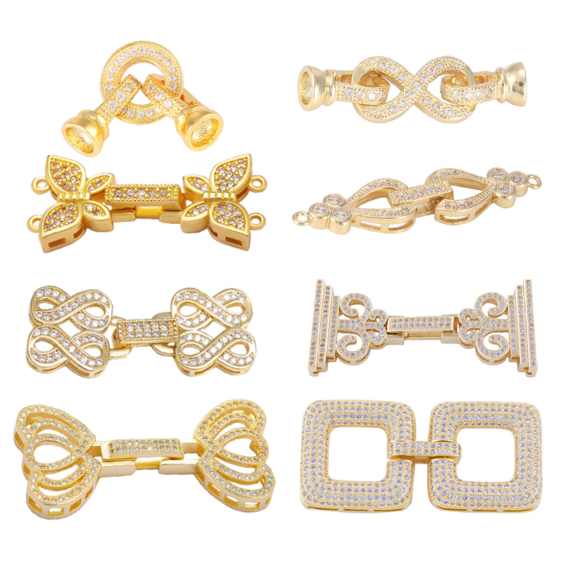 Juya DIY Pearls Jewelry Fittings Fastener Connector Clasps For Handmade Beadwork Gems Pearls Bracelet Necklace Making Material