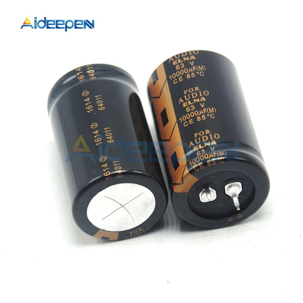 100% Original ELNA Audio Capacitor 63V 10000uF 30*50mm Aluminum Electrolytic Capacitor Low Impedance Capacitance Size 30x50mm