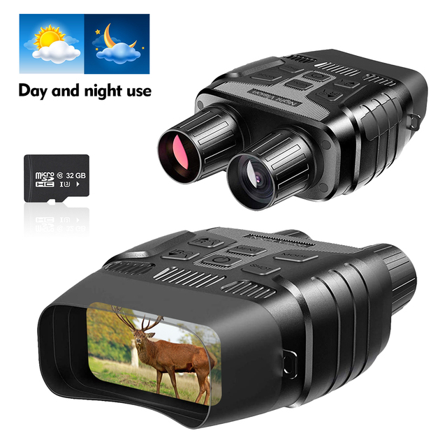 Super Quality Night Vision Binoculars for Hunting Traveling Fishing IR Monocular Camera Security Telescope 300M 32G HD Binocular 1