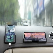 Car Accessory Center Pasted Phone Holder Adjustable Width Navigation PVC Bracket
