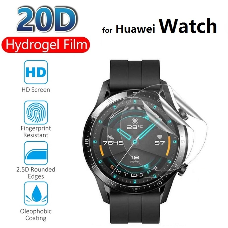 2pcs Hydrogel Protective Film for Huawei Watch GT 2e 2 Pro 46MM 42MM (Not Glass) Screen Protector Protection Foil