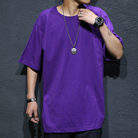 TOP men tees plus size summer male solid hiphop cotton t shirt M 5xl o neck collar short sleeve men T shirt HIPHOP