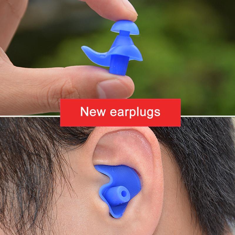 1 Pair Soft Silicone Swim Ear Plugs  Waterproof Anti-Noise Dust-Proof Earplugs