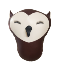 2021 Owl Wall Decoration Creative Children Room Bed Stuffed Animal Zoo Bird New Gift High quality Cheap Safe PU leather Toys