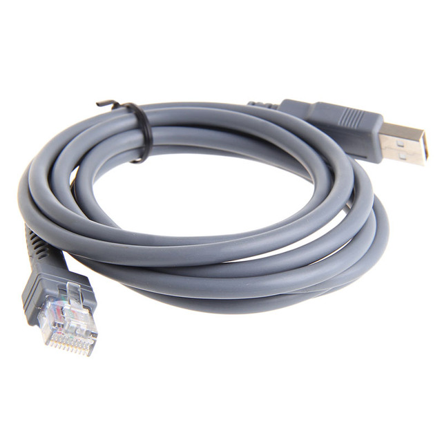 1 pc 2M escáner de código de barras símbolo Cable USB LS1203 LS2208 LS4208 LS3008 CBA-U01-S07ZAR