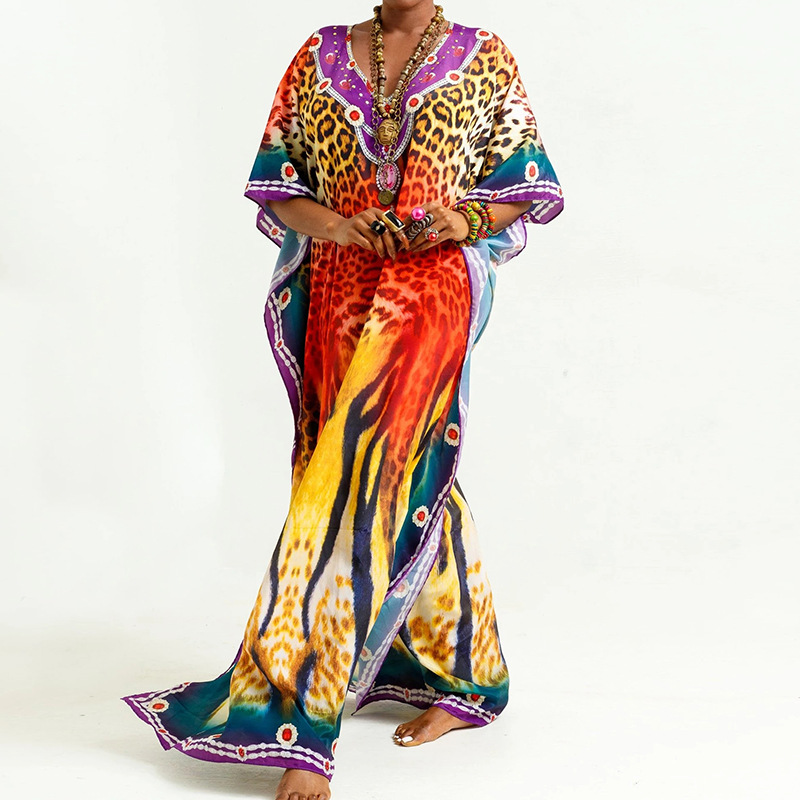 Beach Smock African Dresses For Women Dashiki African Clothes Bazin Broder Riche Sexy Slim Ruffle Sleeve Robe Evening Long Dress