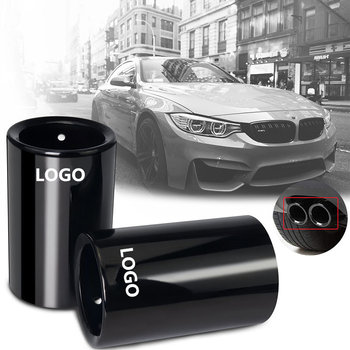 1pcs Car Styling For BMW E30 E36 E46 E90 E91 E92 E93 F30 320i M Power LOGO Car Exhaust Pipe Muffler Tip Turbo Sound Whistle Aut image