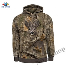 Mens Harajuku Hunting Boar 3D Hoodie Hare Deer Hunter Print Sweatshirt Animal Women Pullover Streetwear Jacket Tracksuit Camo