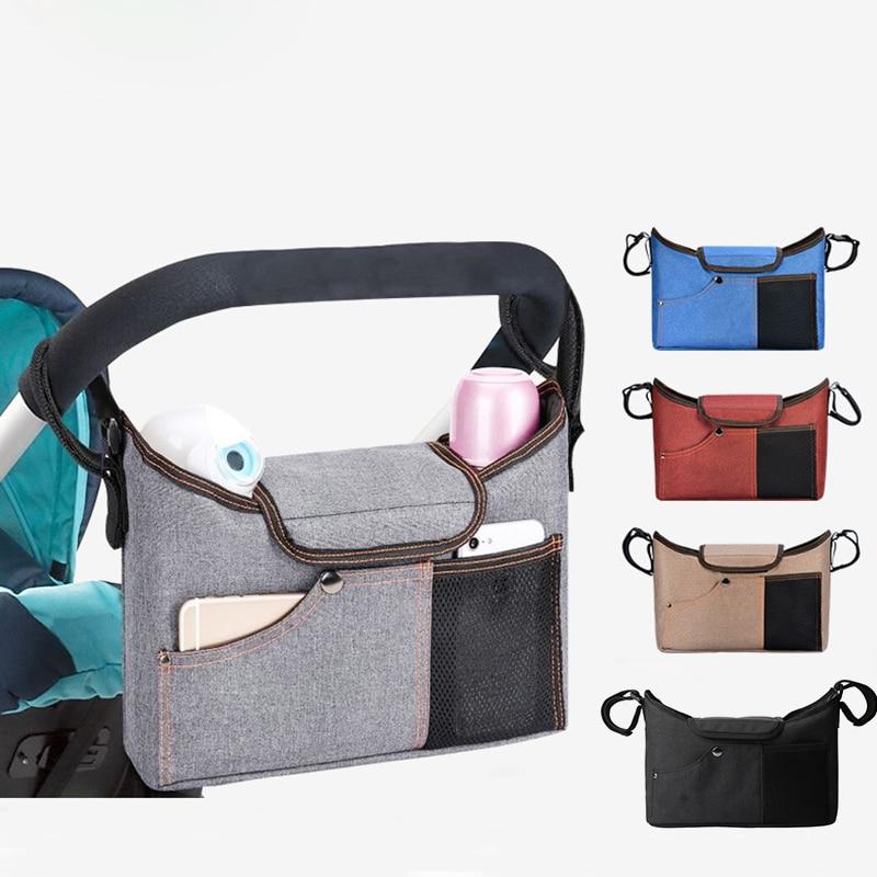 Diaper Bag Stroller Organizer Bag Large Capacity Grey Baby Care Bottle Nappy Bag Mummy Maternity Bag Backpack For Moms Baby Bag