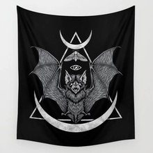 Occult Bat Wall Tapestry Wall Hanging Wall Decor Bedspread Wall Art Curtain Blanket Towel Personalized Table