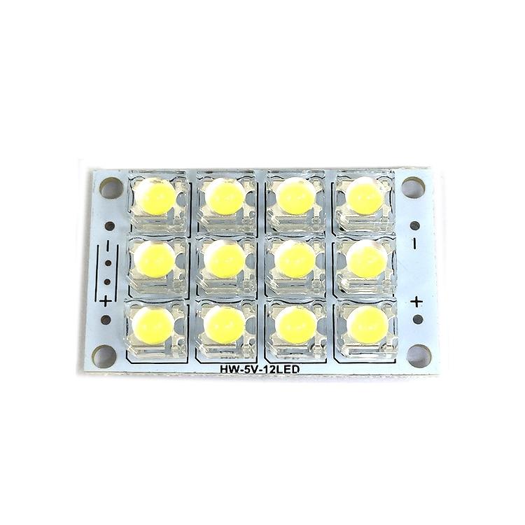 DC 3V-5V 12-LED Super Bright White Piranha LED Board Night LED Lights Lamp