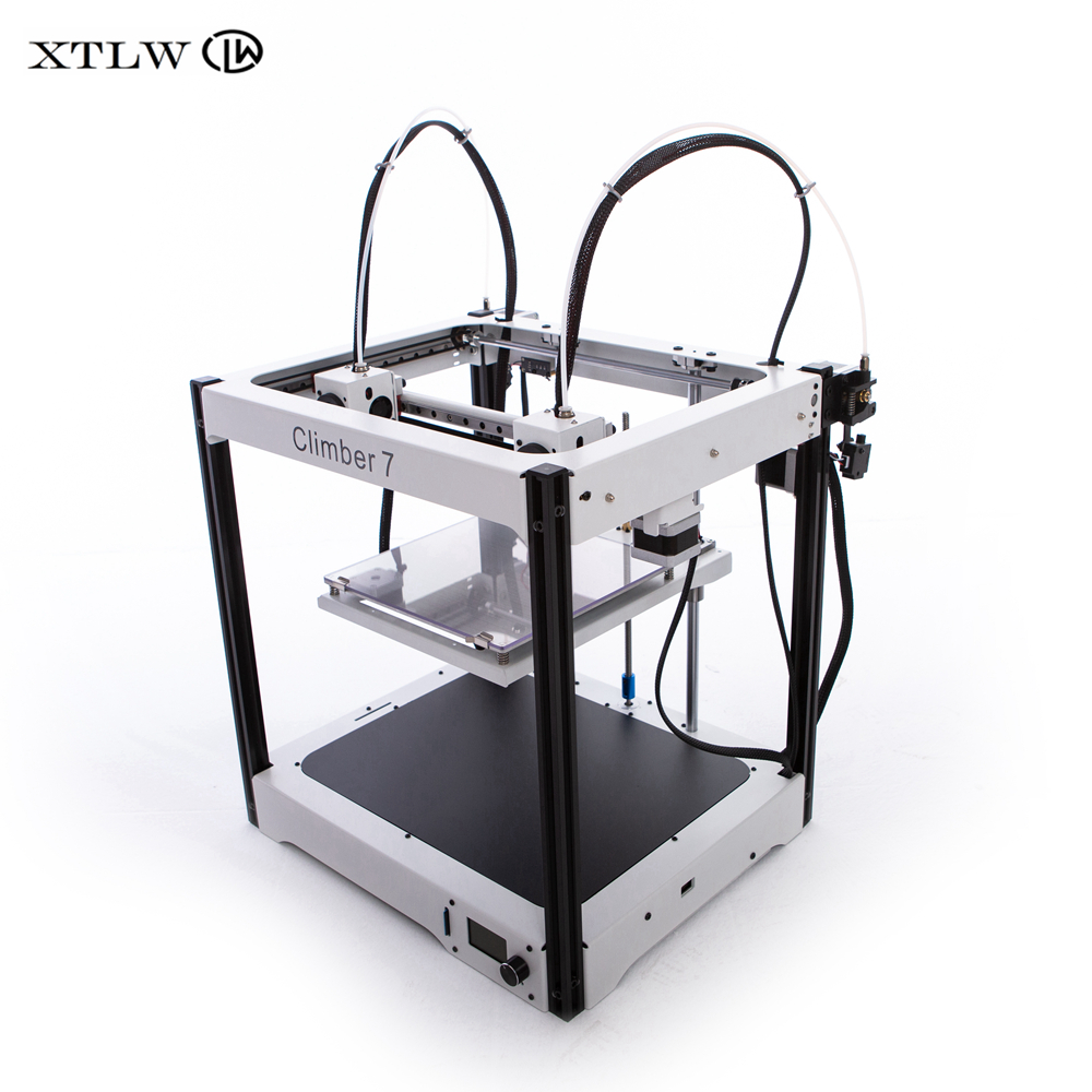 2020 Newest IDEX 3D printer Independent Dual Extruder Full Metal frame High Precision Large size DIY kit Climber7