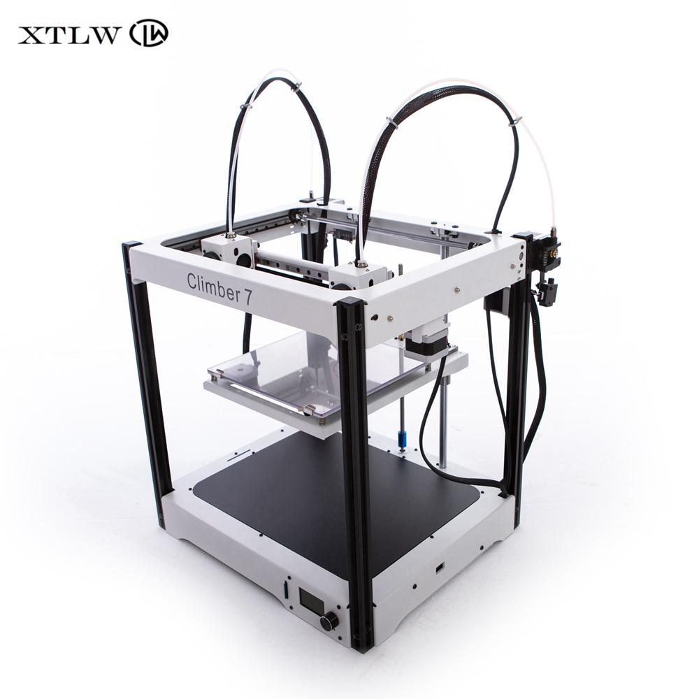 2020 neueste IDEX 3D drucker Unabhängige Dual Extruder Volle Metall rahmen Hohe Präzision Große größe DIY kit Climber7