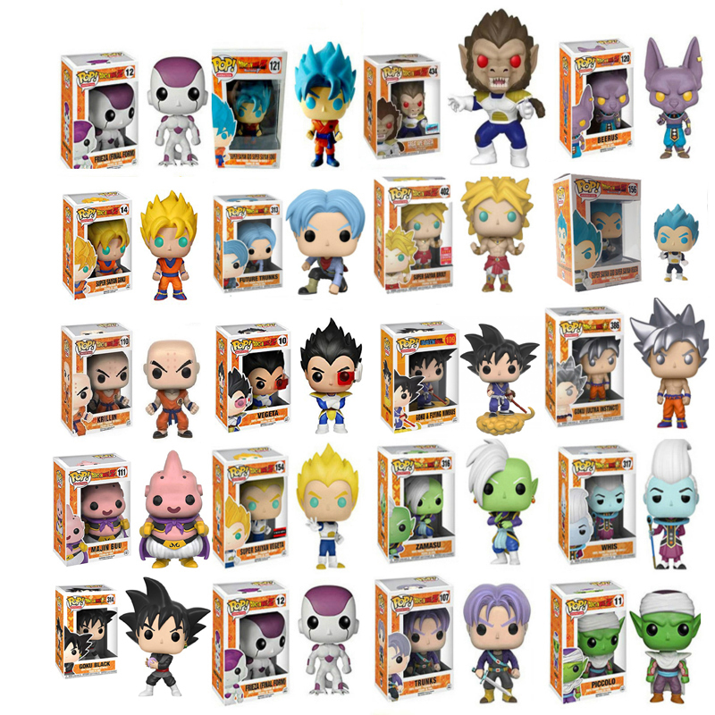2019 Funko Pop Dragon Ball Super Action Figures Goku Vegeta Kids Christmas Gifts God Doll Super Saiyan Model Toys