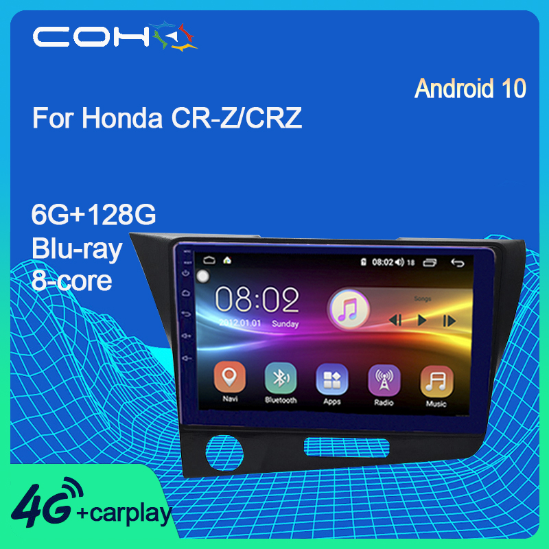 COHO For Honda CR-Z/CRZ Android 10.0 8-Core 6+128G Navegador Car Multimedia Player Auto Radio Screen image