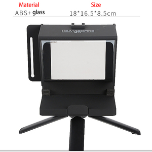 Image 4 - Portable Mini Teleprompter for Phone DSLR Recording Live Broadcast Mobile Teleprompter Artifact Video With Remote Control VS T1